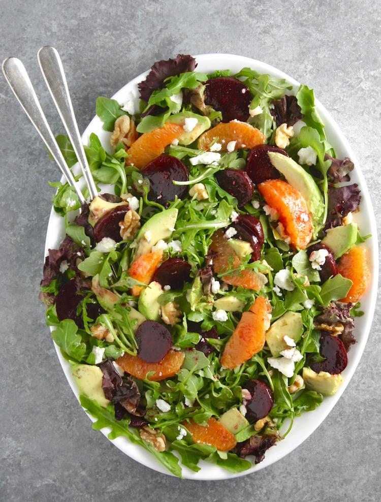 Arugula, Beet, Orange and Goat Cheese Salad - Marilena's ...